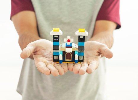 Lego, Mount, Play, Pecinha, Construction, Church
