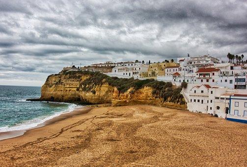 Carvoeiro, Portugal, Mar, Costa, Relaxation, Europe