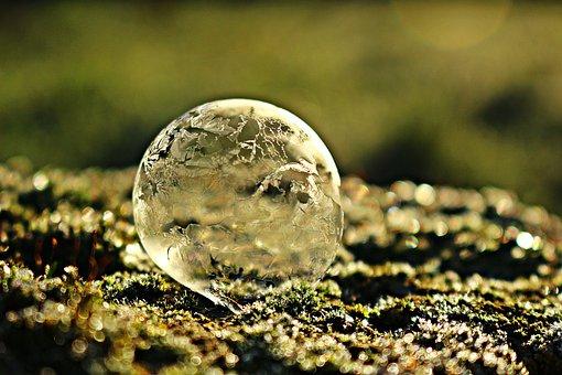 Frozen Bubble, Ice Bubble, Soap Bubble, Frost Bubble