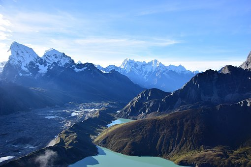 Everest Base Camp, Gokyo Ri, Glacier, Himalayas, Lakes