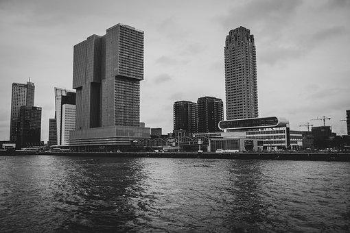 Rotterdam, Holland, City, Port, Architecture, Water