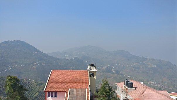 Sky, Landscape, House, Blue, Hill Station