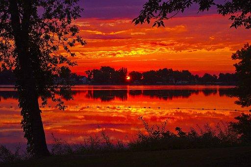 Black Hawk Sunrise, Dawn, Sunset, Nature, Landscape