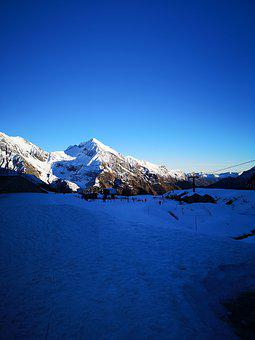 Mountain, Snow, Piemonte, Monte Rosa, Winter, Landscape