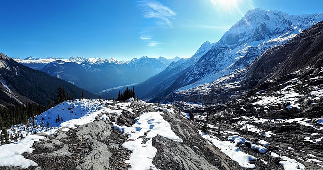 Mountains, Snow, Landscape, Nature, Canada
