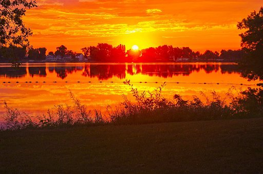 Sunrise At Black Hawk, Dawn, Sunset, Nature, Landscape