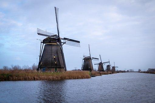 Holland, Kinderdijk, Landscape, Netherlands, Molina