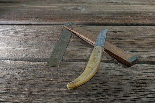 Tool, Knife, Folding Rule, Work, Workshop, Old