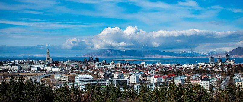 Iceland, Reykjavik, Panorama, View, Perlan