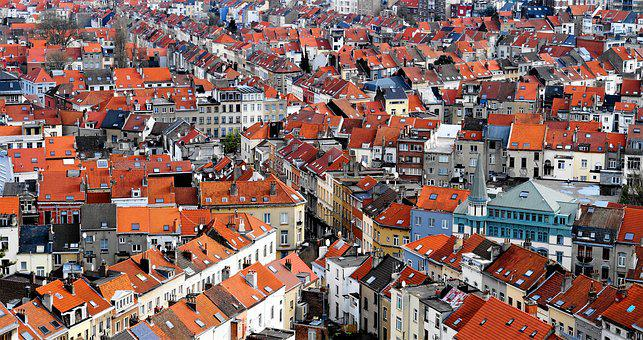 Roof, City, Architecture, Panorama, Building, At Home