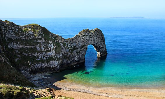 Dorset, Felsentor, Durdle Door, England, Coast, Sea