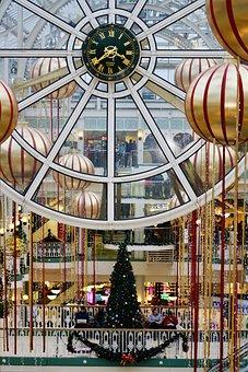 Dublin, Shopping, Shopping Centre, Clock