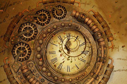 Time, Surreal, Clock, Autumn, Letters, Words, Text