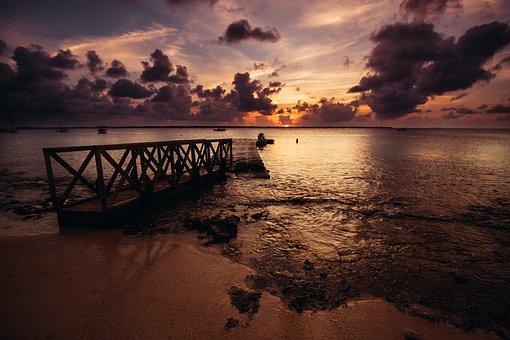Bridge, Sea, Haven, Water, The Coast, Blue, Beach, West