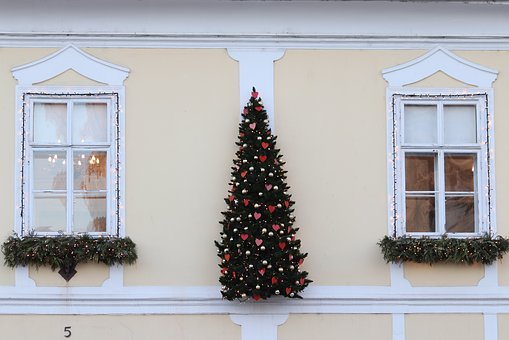 Building Front, Christmas Decoration, Outdoor, Exterior