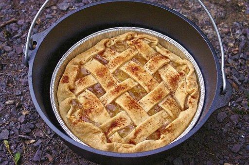 Dutch Oven Apple Pie, Camp, Cooking, Dutch, Oven