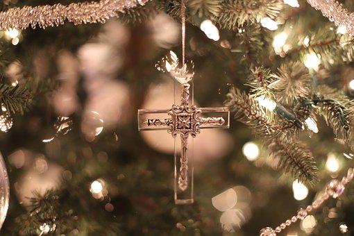 Cross, Ornament, Christmas, Christmas Decorations