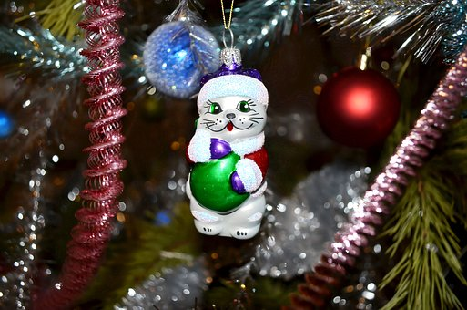 Christmas Toy, Glass, Tinsel, Holiday, Ornament