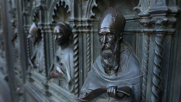 Florence, Pope, Church, Piazza, Statue, High Relief