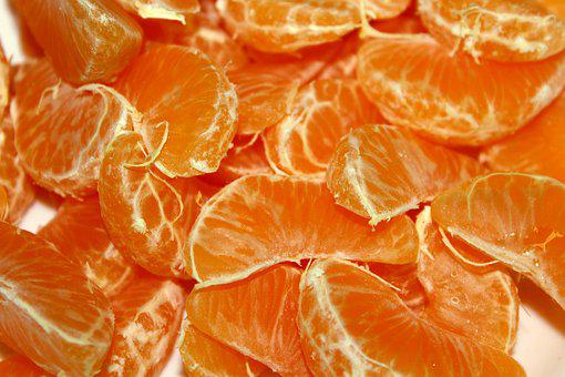 Mandarins, Fruit, Particles, Vitamins, Citrus, Healthy