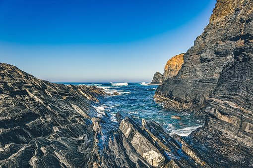Coast, Cliffs, Rocks, Stone, Water, Shore, Coastline