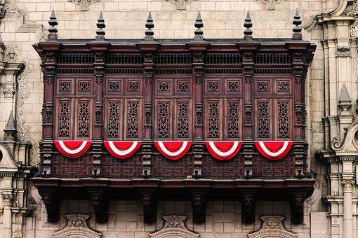 Lime, Historic Centre, Peru, Culture, Balcony Historic