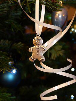 Snowman, Gingerbread, Maennele, Decoration, Christmas