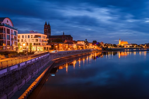 Germany, Magdeburg, Dom, Architecture, Church, Elbe