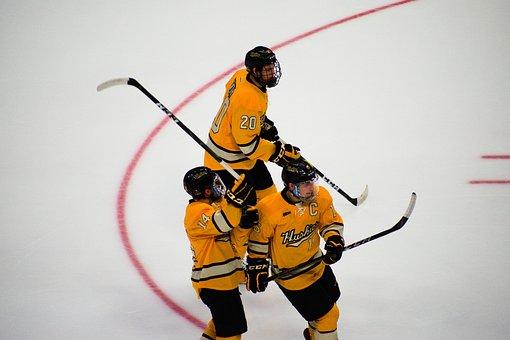 Hockey, Ice Hockey, Team, Yellow Team, Player, Sports