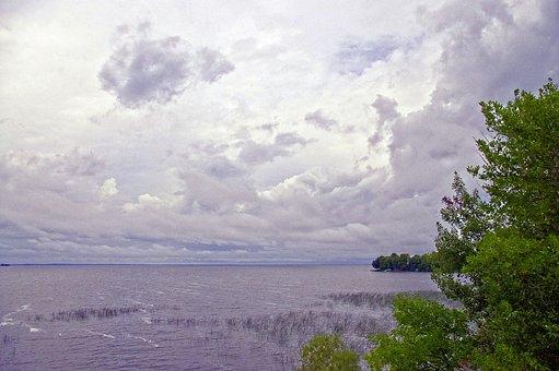 Mille Lacs Cloudy Morning, Lake, Cloudy, Landscape