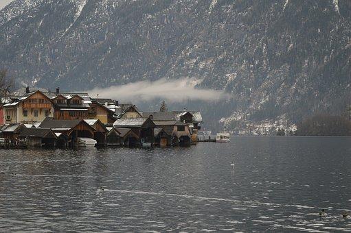 Hallstatt, Austria, Lake, Church, Village, Alps, Unesco
