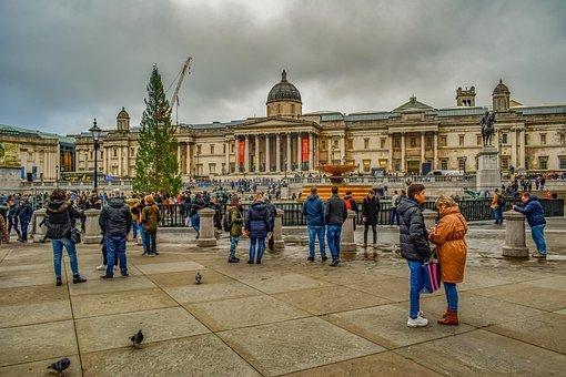 London, Trafalgar Square, Square, Architecture, City