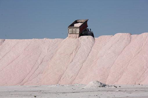 Salt, Truck, Mineral, Mountain, Equipment, Mine, Heavy