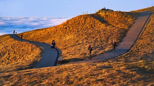 Landscape, Sky, Cloud, Mountain, Volcano, Road, Path