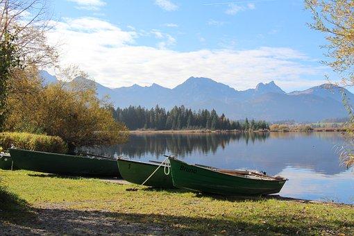 Lake, Allgäu, Bavaria, Panorama, Mountains, Water