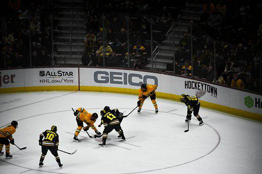 Hockey, Team, Players, Sport, Ice Hockey, Yellow