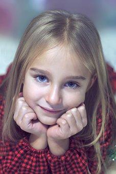 Reverie, Eyes, The Little Girl, Face, Portrait, Posing