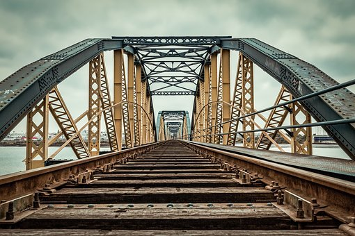 Bridge, Railroad, Railway, Architecture, Train