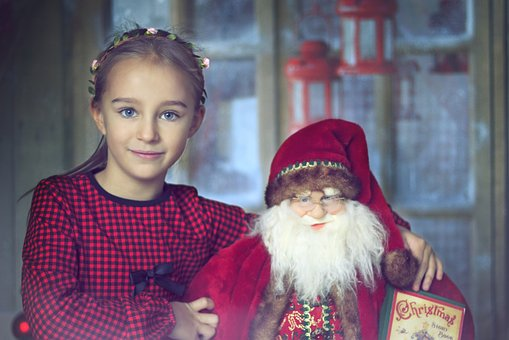 Christmas, The Little Girl, Holiday, Girl, Winter, Red