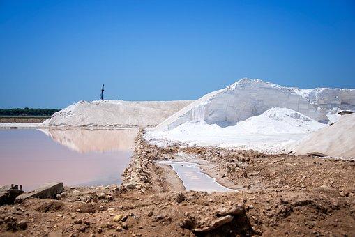 Sea Salt, Salt, Spain, Production, Sky, Andalucia