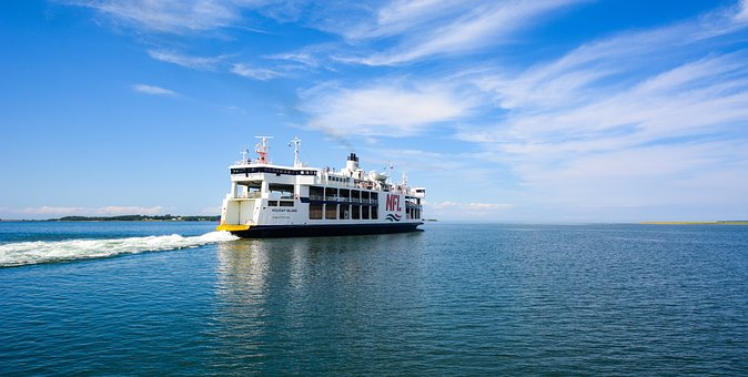 Ferry, Crossing, Departure, Ship, Sea, Transport