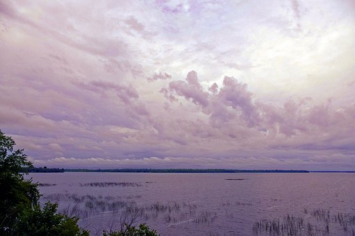 Cloudy Morning Over, Lake, Cloudy, Landscape, Water
