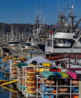Harbor, Ventura Harbor, Boats, Water, Fishing, Doc