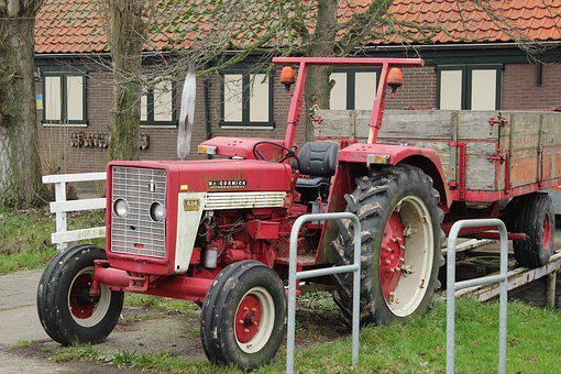 Tractor, Wheels, Machine, Vehicle, Wheel, Agriculture