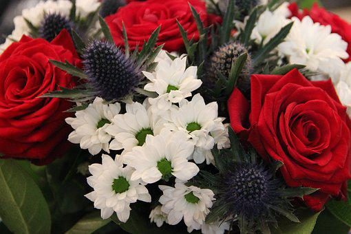 Bouquet, Commemoration, Blue White Red, France