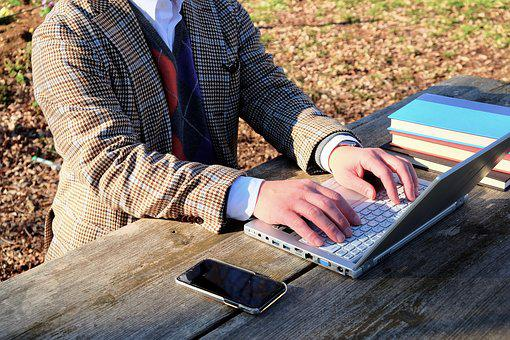 Essayist, Park, Outdoor, Winter, Working, Forest, Books