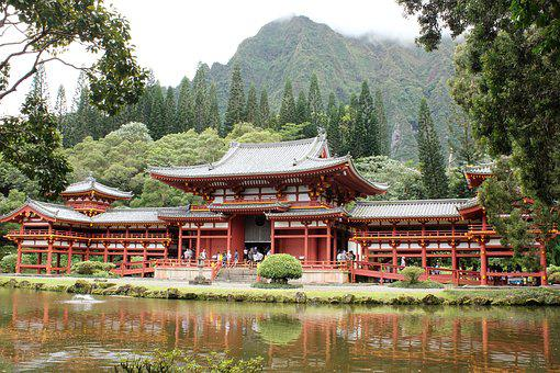Hawaii, Byodo-in, Buddhism, Culture, Travel