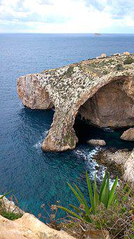 Sea, Bay, Cave, Water, View