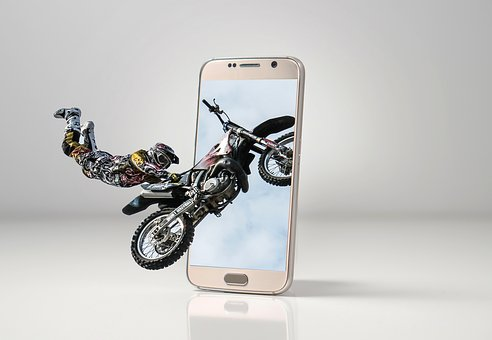 Motorcycle, Photoshop, Smartphone, Cellular, Edition