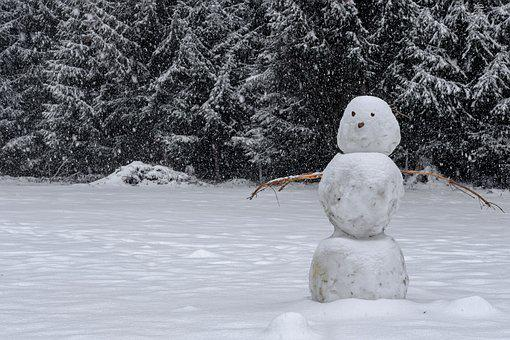 Winter, Snow, Snowman, Landscape, Cold, Snowfall